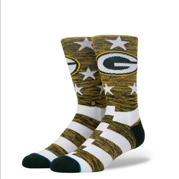 Stance Green Bay Packer Banner Socks